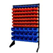 Стеллаж складской с пластиковыми ящикам фото