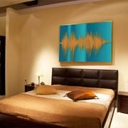 Картина из звука на немецком холсте Cerulean and orange фото