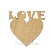 Заготовки для декупажа Подвеска Сердце-LOVE 7 фото