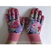 Перчатки для садовых работ Леди FairLady розовые, размер L NW-FL-P фото