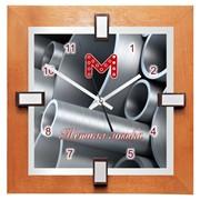 Настенные часы с логотипом модель BS-logo фото