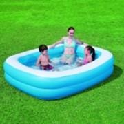 Бассейн надувной прямоугольный, детский фото