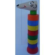 Деревянная детская игрушка пирамидка Лариска 521410 170х40 фото