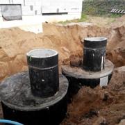 Монтаж канализации В Минске (бетнные кольца) фото