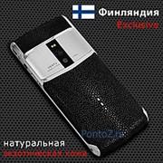 Телефон Vertu Signature Touch Steel Black Stingray Leather New 2016 фото
