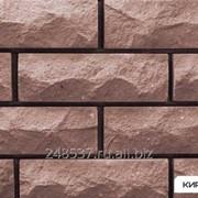 Силикатный облицовочный кирпич полнотелый одинарный темно-коричневый рустированный тычок КЗСК фото