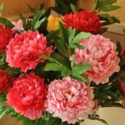 Искусственные цветы пионы фото