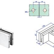 Фурнитура, ST-223 Коннектор на 3 стеклянных панели с ребром жесткости фото