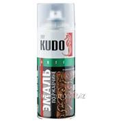 Эмаль аэрозольная Kudo молотковая, по ржавчине, серебристая, 520мл. фото