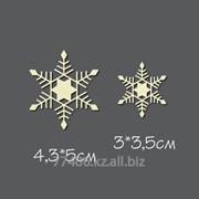 Чипборд Пара снежинок 2 фото