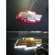 Значек передний(белый) и задний (красный) фото