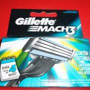 Сменные картриджи Gillette Mach3 4 шт. фото