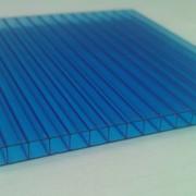 Поликарбонат сотовый 12000х2100х25 синий фото