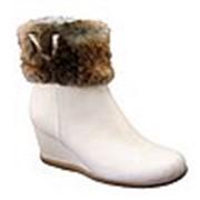 Женская обувь из меха. фото
