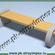 Скамейка бетонная СК фото