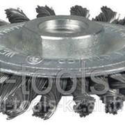 Щетка Stayer дисковая для УШМ, сплет в пучки стальн зак провол 0,5мм, 175мм/М14 Код:35192-175 фото