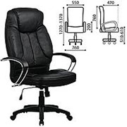 """Кресло для руководителя Metta """"LK-12PL"""", экокожа, черное фото"""