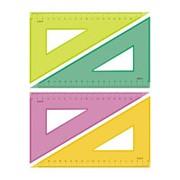 Линейка Треугольник 18 см угол 30 градусов Neon Cristal 4цв ТК-47 фото