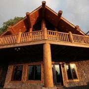 Строительство деревянных домов из массива сосны под ключ фото