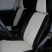 Чехлы Honda CR-V-4 12 чер-бел,чер-сер , черный эко-кожа Оригинал фото