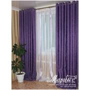 Универсальные шторы Бостон упаковке цвет фиолетовый фото