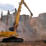 Снос, демонтаж зданий фото