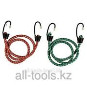 Шнур Stayer Master резиновый крепежный со стальными крюками, 100 см, d 7 мм, 2 шт Код:40505-100_z01 фото