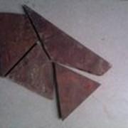 Песчаник теракотово-красный с пилеными краями фото