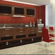 Кухня Рона. Цвета Дуб пористый натуральный, вставки из кожи с выделкой до крокодилловую фото