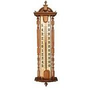 Термометр ХК бытовой наружный, деревянный, СН-075-1, от -40 до +50 фото