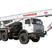 Кран автомобильный КС-55732 Челябинец КАМАЗ-43118 + спальник, 25 тонн,4 секции стрелы фото