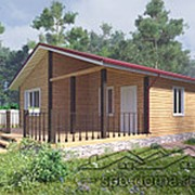 Проект дома из профилированного бруса 8,0 х 9,0 м «Тихвин» фото