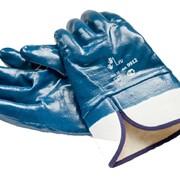 Перчатки нитриловые Перчатки нитриловые полный облив манжет крагой Арт.2204 фото