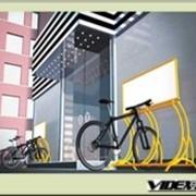 Велопарковка мобильная с местом под рекламу VP- 5- 3 фото