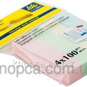 Стикеры-закладки бумажные Buromax 51х12 мм 4 блока по 100 листов 4 цвета фото