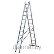 Универсальная алюминиевая двухсекционная лестница 24 ступеней Dubilo KRAUSE 120588 фото