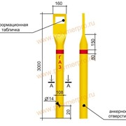 Столбики СОГ – опознавательные столбы для газопроводов фото