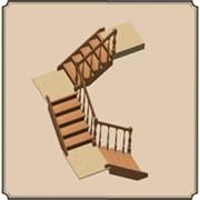 Трехмаршевая лестница фото