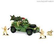 """Р/У игрушка """"Военный джип с ракетной установкой"""" MioshiArmy (30см, с фигурками 2 солдата и 1 собака, подсветка, звук) фото"""