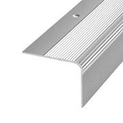 ЛУКА Порог угловой ПУ 02-900-01п серебро (0,9м) 41,8х54мм фото
