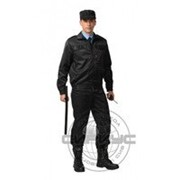 Костюм Вымпел: куртка, брюки тк. смесовая черный фото