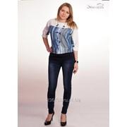 Блуза 1447-1 Синий цвет фото