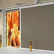 Ворота откатные противопожарные фото