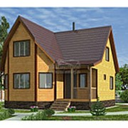 Дом из бруса 7.0 х 7.5 м (Проект Д-073-1 Сезонный) фото