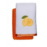 Набор махровых полотенец для кухни Romeo Soft 40*70 лимон фото