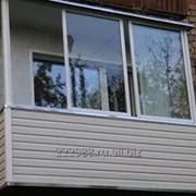 Балкон алюминиевый П-образный фото