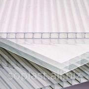 Сотовый поликарбонат, прозрачный, толщиной 6 мм, вес 1,3 кг/м2, размер 2100*6000 фото