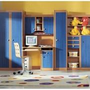 Детская комната Юниор софт синий фото