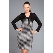 Платье Ксения, серый с черным фото