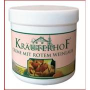Крем для ног Krauterhof (Краутерхоф) с диким конским каштаном и красными виноградными листьями фото